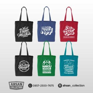 Free Cover Alquran Vector, Tas belanja dakwah Ahsan Collection 🛍✨