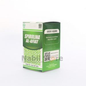 pelangsing herbal alami tanpa efek samping, Herbal Spirulina Al Afiat 60 Kapsul